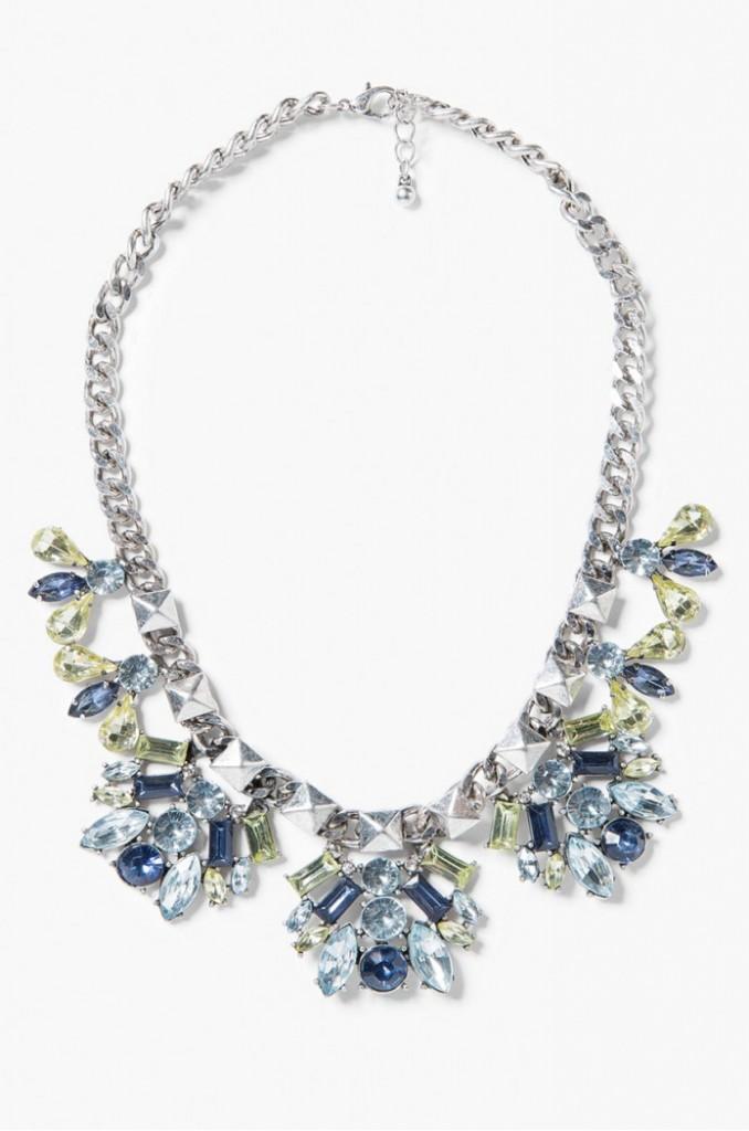 naszyjnik kryształy niebieskie